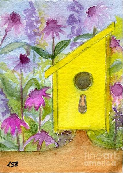 Wall Art - Painting - Birdhouse Series Nine by Lisa Bell