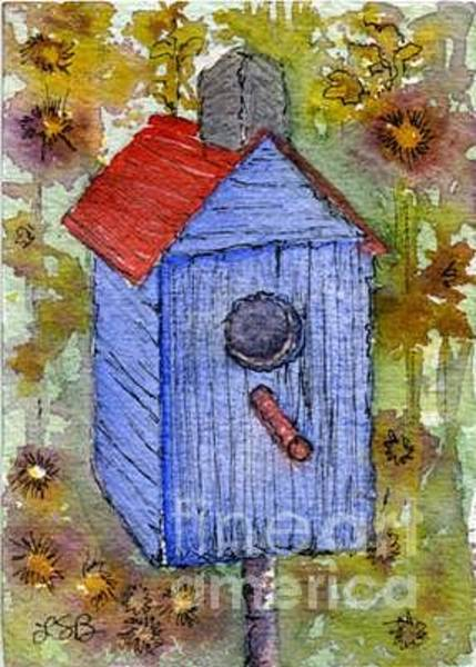 Wall Art - Painting - Birdhouse Series One by Lisa Bell