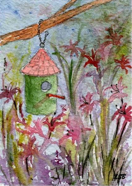 Wall Art - Painting - Birdhouse Series Seven by Lisa Bell