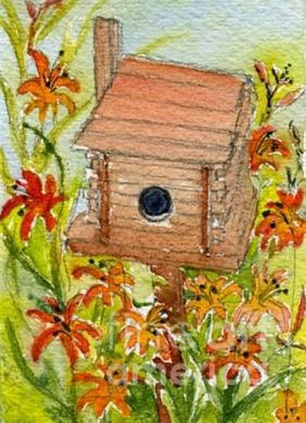 Wall Art - Painting - Birdhouse Series Six by Lisa Bell