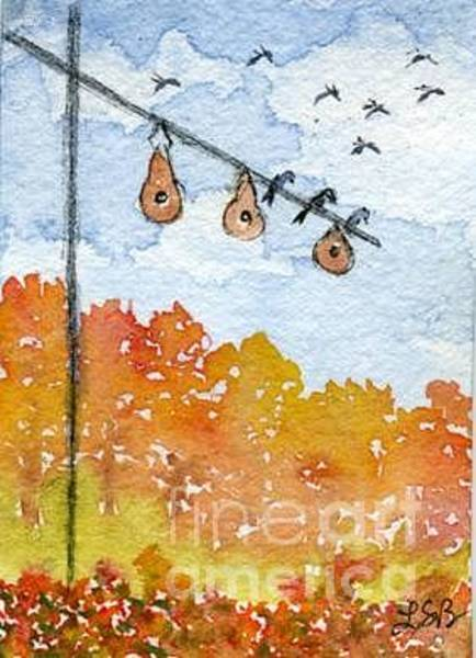 Wall Art - Painting - Birdhouse Series Three by Lisa Bell