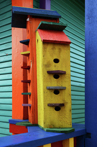 Rockaway Photograph - Birdhouses For Colorful Birds 6 by Bob Christopher