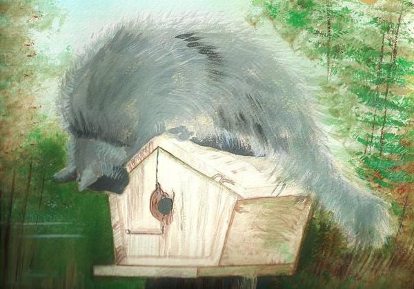 Birdie In The Hole Art Print