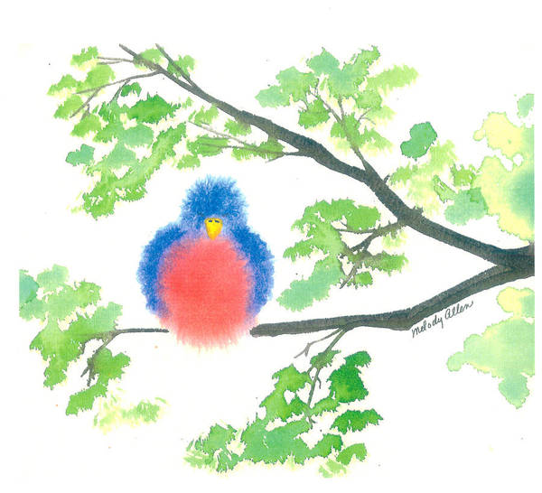 Wall Art - Painting - Birdie by Melody Allen