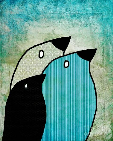 Simplicity Digital Art - Birdies - 6904a by Variance Collections