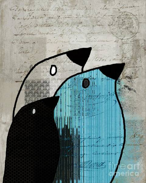 Simplicity Digital Art - Birdies - J693b2 by Variance Collections