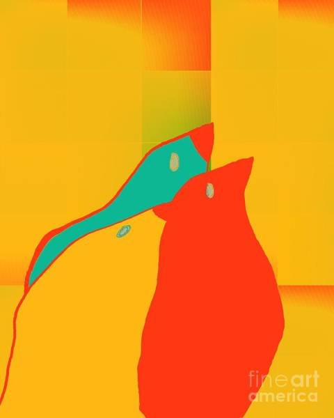 Aqua Digital Art - Birdies - P01p2t6 by Variance Collections