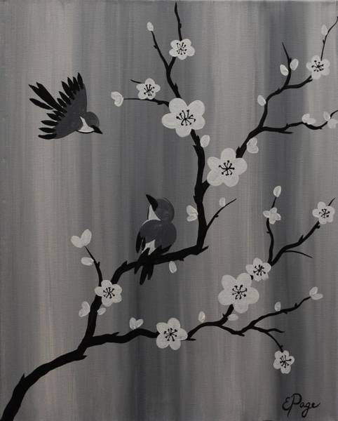 Painting - Birds And Blossoms by Emily Page