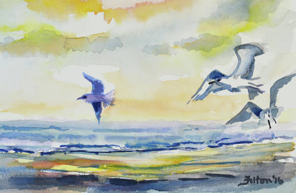 Painting - Birds At The Shoreline by Julianne Felton