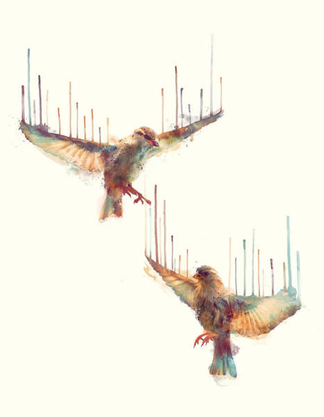 Fauna Wall Art - Painting - Birds // Awake by Amy Hamilton