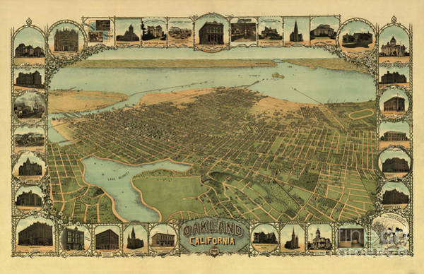 Photograph - Birds Eye View Oakland California by Dale Powell