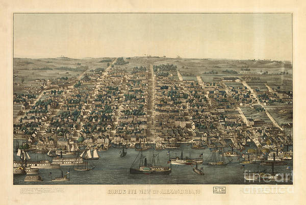 Photograph - Birds Eye View Of Alexandria Va by Dale Powell