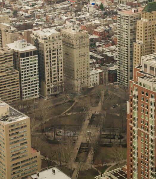 Rittenhouse Square Wall Art - Photograph - Birds Eye View - Rittenhouse Square by Bill Cannon