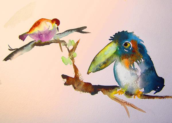 Painting - Birds In Love by Miki De Goodaboom