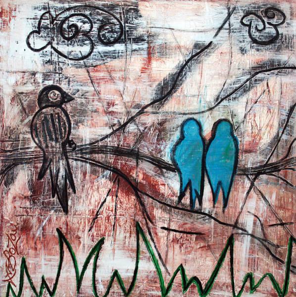 Wall Art - Painting - Birds In The Bush by Laura Barbosa
