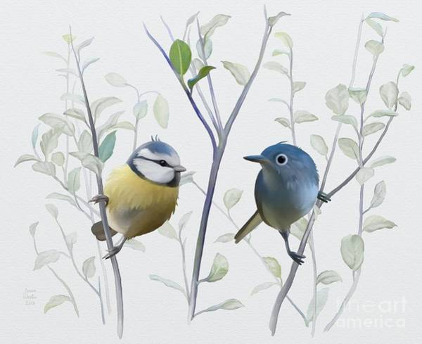 Painting - Birds In Tree by Ivana