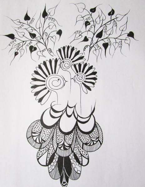 Drawing - Birds Nest by Rosita Larsson