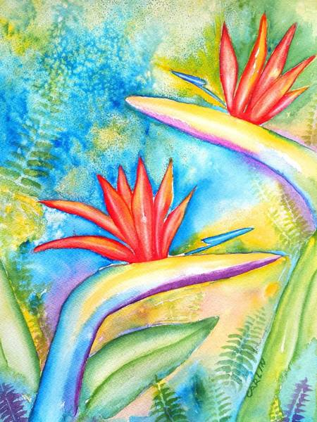 Wall Art - Painting - Birds Of Paradise by Carlin Blahnik CarlinArtWatercolor