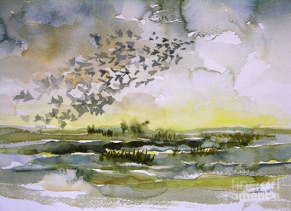 Painting - Birds Rising I by Julianne Felton