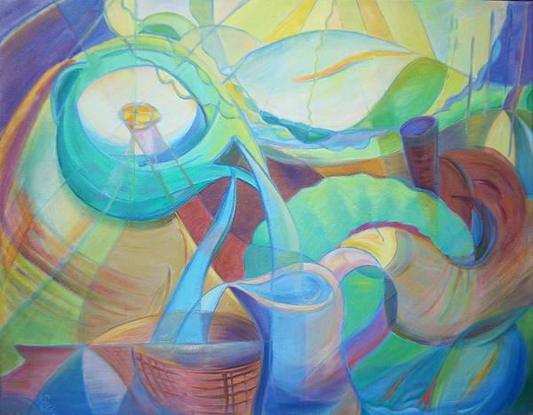 Wall Art - Painting - Birdscape by Sylvia Carlton