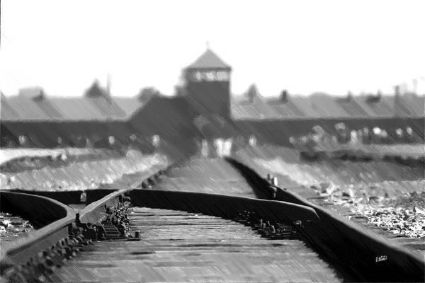 Painting - Birkenau / Auschwitz Railhead - Pol402324 by Dean Wittle