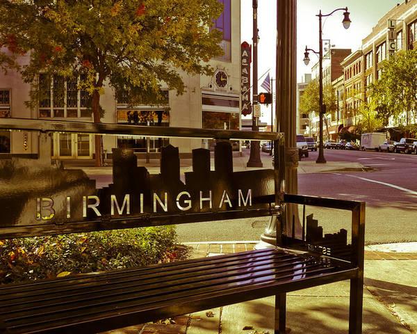 Photograph - Birmingham Bench by Just Birmingham