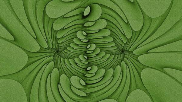Digital Art - Birrkhal Blooms Lime by Doug Morgan