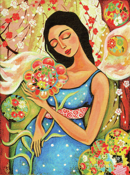 Painting - Birth Flower by Eva Campbell