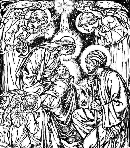 Bethlehem Drawing - Birth Of Jesus  Nativity Scene In The New Testament by English School