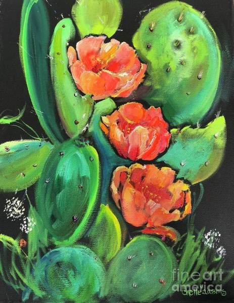 Texas Painting - Birthday Blooms by Chelle Adams