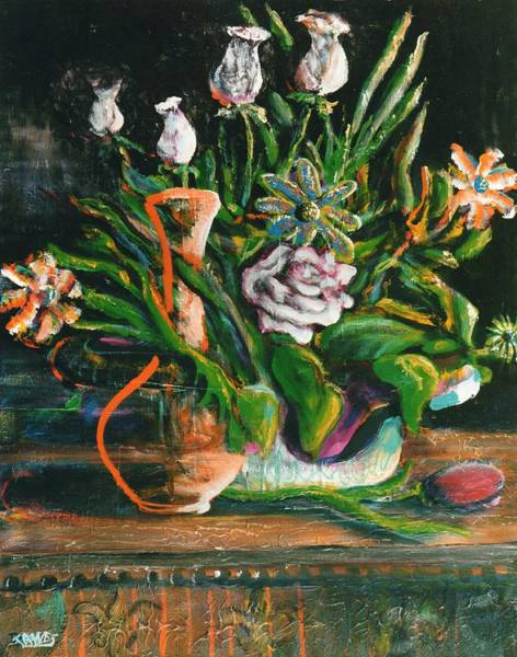 Painting - Birthday Bouquet by Dennis Tawes