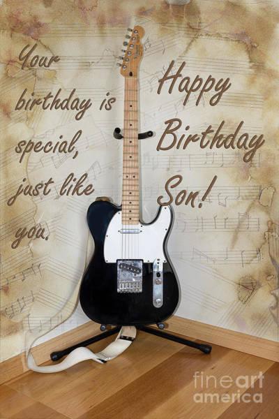 Photograph - Birthday Guitar by Elaine Teague