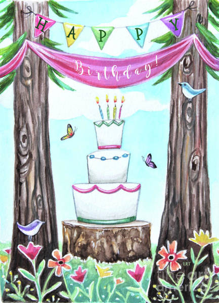 Painting - Birthday In The Forest by Elizabeth Robinette Tyndall