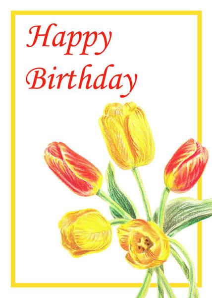 Painting - Birthday Tulips by Irina Sztukowski