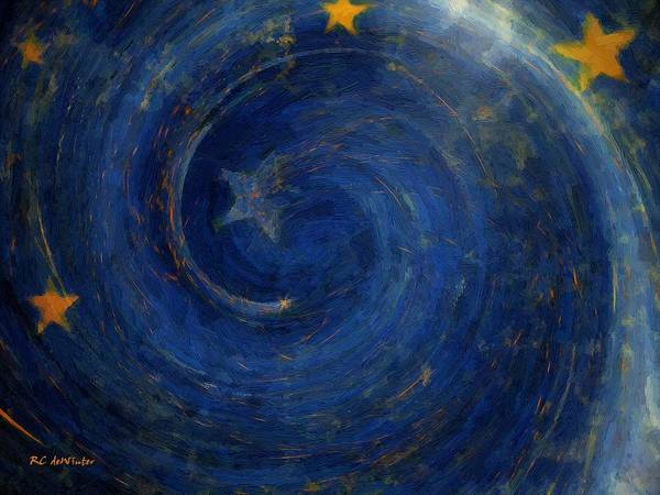 Painting - Birthed In Stars by RC DeWinter