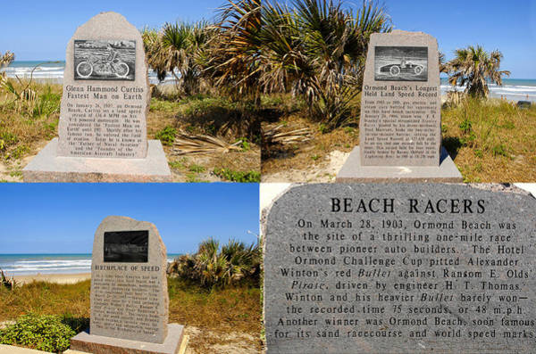 Ormond Beach Photograph - Birthplace Of Speed Park by David Lee Thompson