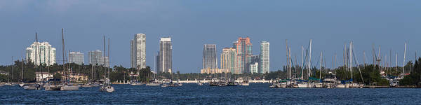 Photograph - Biscayne Bay At Miami Yatch Club by Ed Gleichman