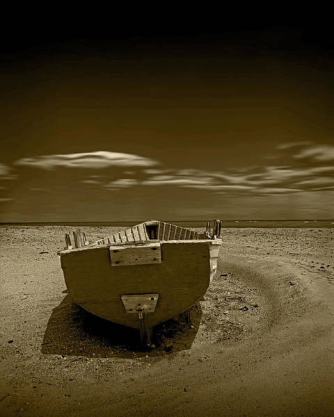 Photograph - Biscayne Bay Beached Boat by Randall Nyhof