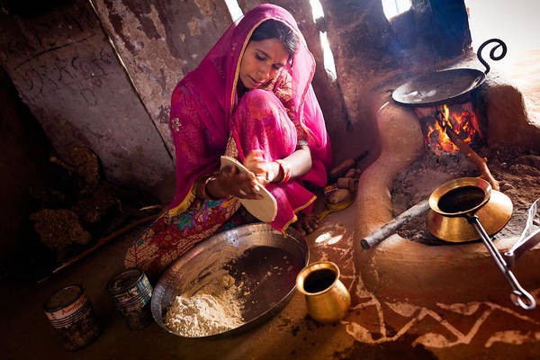 Photograph - Bishnoi Kitchen by Marji Lang