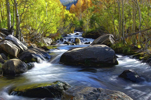 Brook Mixed Media - Bishop Creek by Eastern Sierra Gallery