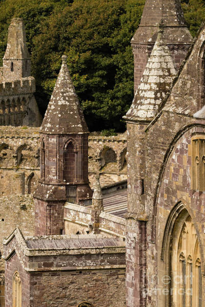 Photograph - Bishop's Palace And St David's Cathedral by Keith Morris