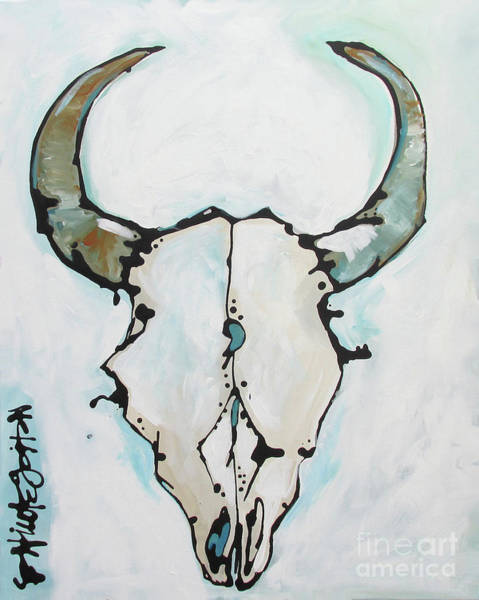 Painting - Bison Skull #2 by Nicole Gaitan