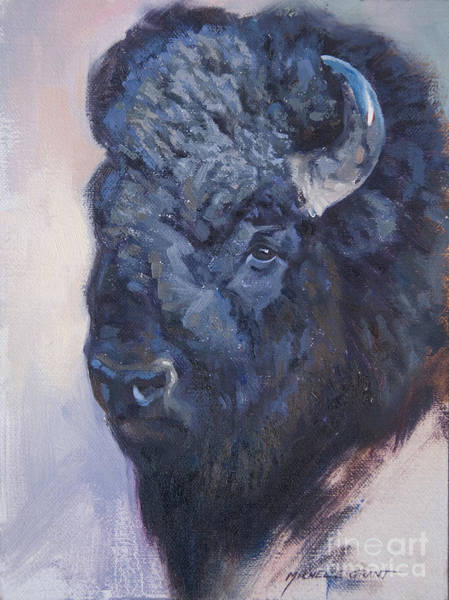 Painting - Bison Study by JQ Licensing