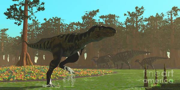 Vertebrate Painting - Bistahieversor Dinosaur by Corey Ford