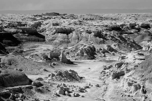 Photograph - Bisti IIi Bw by David Gordon