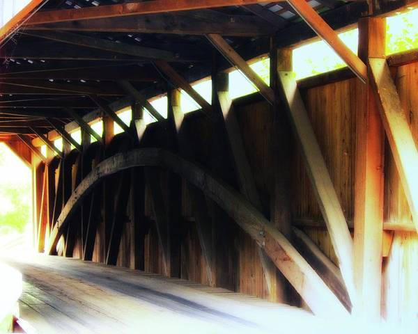 Photograph - Bistline Bridge Interior by John Feiser