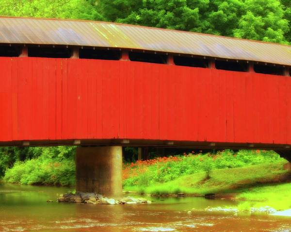 Photograph - Bistline Covered Bridges by John Feiser