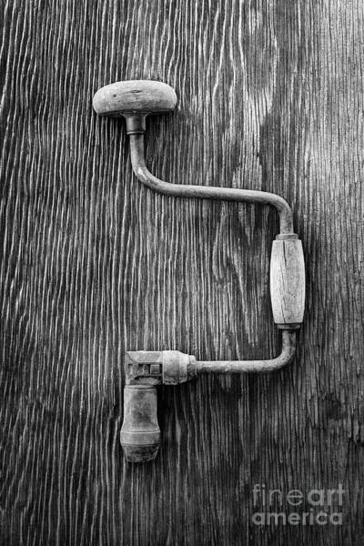 Wall Art - Photograph - Bit Brace R Bw by YoPedro