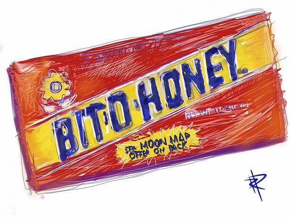 Stripe Mixed Media - Bit O Honey by Russell Pierce