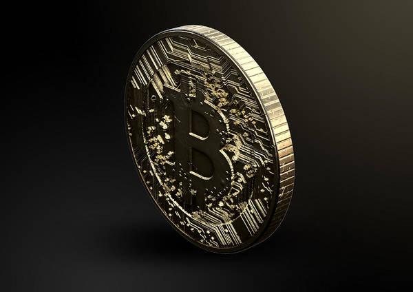 Gold Digital Art - Bitcoin Physical by Allan Swart